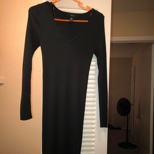 Forever 21 bodycon long sleeve green dress